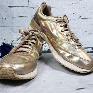 Gold holographic Skechers Sneakers Glitter Size 9